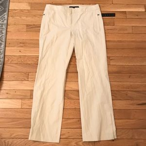 """NWT Theory """"Charles"""" Pants Nude Zippers size 4"""